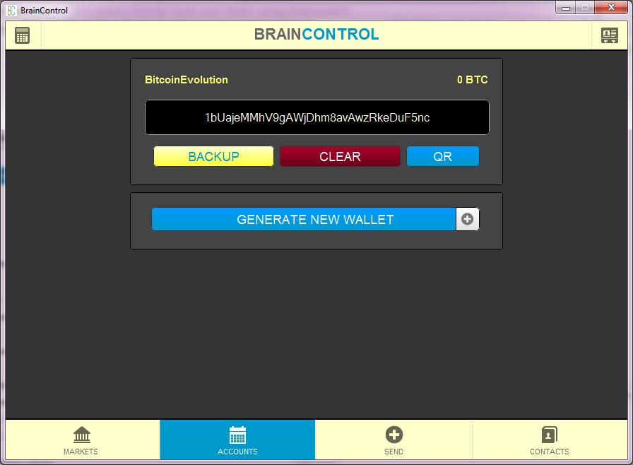 Original BrainControl Wallet released in 2014